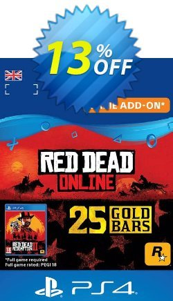 Red Dead Online: 25 Gold Bars PS4 - UK  Coupon, discount Red Dead Online: 25 Gold Bars PS4 (UK) Deal. Promotion: Red Dead Online: 25 Gold Bars PS4 (UK) Exclusive offer for iVoicesoft