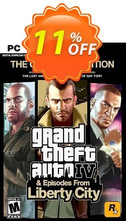 Grand Theft Auto IV 4: Complete Edition PC Coupon discount Grand Theft Auto IV 4: Complete Edition PC Deal. Promotion: Grand Theft Auto IV 4: Complete Edition PC Exclusive offer for iVoicesoft