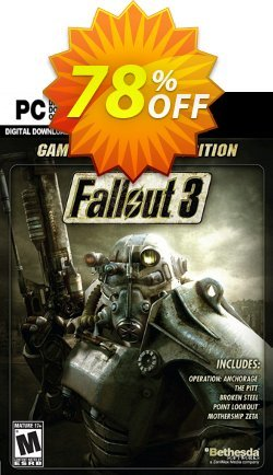 Fallout 3 Game of the Year Edition PC Coupon discount Fallout 3 Game of the Year Edition PC Deal. Promotion: Fallout 3 Game of the Year Edition PC Exclusive offer for iVoicesoft