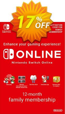 Nintendo Switch Online 12 Month - 365 Day Family Membership Switch Coupon discount Nintendo Switch Online 12 Month (365 Day) Family Membership Switch Deal - Nintendo Switch Online 12 Month (365 Day) Family Membership Switch Exclusive offer for iVoicesoft