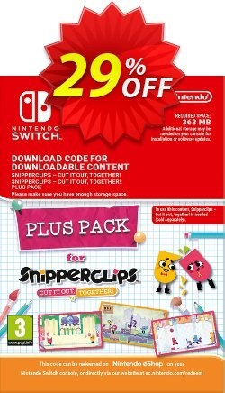 Snipperclips - Cut it out Together Plus Pack Switch Coupon discount Snipperclips - Cut it out Together Plus Pack Switch Deal - Snipperclips - Cut it out Together Plus Pack Switch Exclusive offer for iVoicesoft
