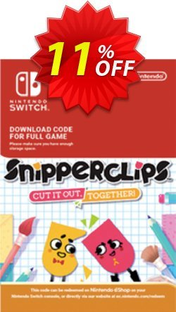 SnipperClips - Cut It Out Together Switch Coupon, discount SnipperClips - Cut It Out Together Switch Deal. Promotion: SnipperClips - Cut It Out Together Switch Exclusive offer for iVoicesoft