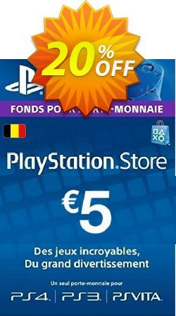 PlayStation Network - PSN Card - 5 EUR - Belgium  Coupon discount PlayStation Network (PSN) Card - 5 EUR (Belgium) Deal - PlayStation Network (PSN) Card - 5 EUR (Belgium) Exclusive offer for iVoicesoft