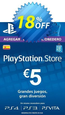 PlayStation Network - PSN Card - 5 EUR - Spain  Coupon discount PlayStation Network (PSN) Card - 5 EUR (Spain) Deal - PlayStation Network (PSN) Card - 5 EUR (Spain) Exclusive offer for iVoicesoft
