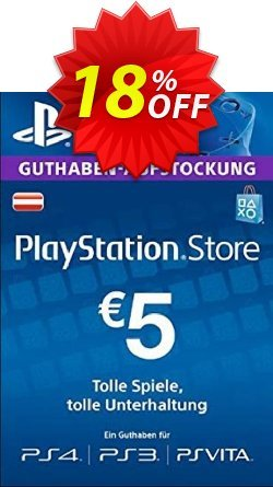 PlayStation Network - PSN Card - 5 EUR - Germany  Coupon discount PlayStation Network (PSN) Card - 5 EUR (Germany) Deal - PlayStation Network (PSN) Card - 5 EUR (Germany) Exclusive offer for iVoicesoft