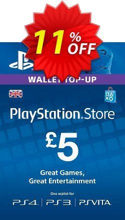 PlayStation Network Card - £5 - PS Vita/PS3/PS4  Coupon discount PlayStation Network Card - £5 (PS Vita/PS3/PS4) Deal. Promotion: PlayStation Network Card - £5 (PS Vita/PS3/PS4) Exclusive offer for iVoicesoft