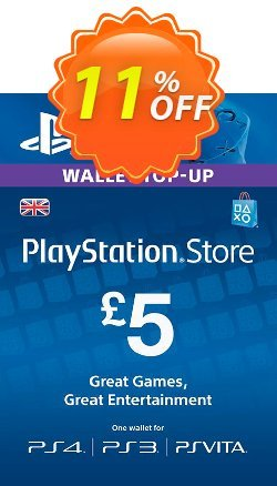 PlayStation Network Card - £5 - PS Vita/PS3/PS4  Coupon discount PlayStation Network Card - £5 (PS Vita/PS3/PS4) Deal - PlayStation Network Card - £5 (PS Vita/PS3/PS4) Exclusive offer for iVoicesoft