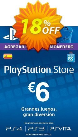 PlayStation Network - PSN Card - 6 EUR - Spain  Coupon discount PlayStation Network (PSN) Card - 6 EUR (Spain) Deal - PlayStation Network (PSN) Card - 6 EUR (Spain) Exclusive offer for iVoicesoft