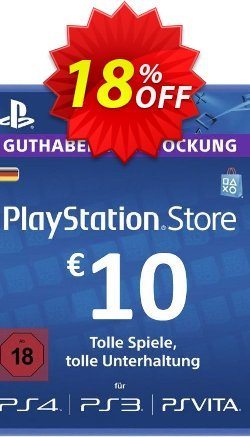 PlayStation Network - PSN Card - 10 EUR - Germany  Coupon discount PlayStation Network (PSN) Card - 10 EUR (Germany) Deal - PlayStation Network (PSN) Card - 10 EUR (Germany) Exclusive offer for iVoicesoft