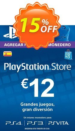 PlayStation Network - PSN Card - 12 EUR - Spain  Coupon discount PlayStation Network (PSN) Card - 12 EUR (Spain) Deal - PlayStation Network (PSN) Card - 12 EUR (Spain) Exclusive offer for iVoicesoft