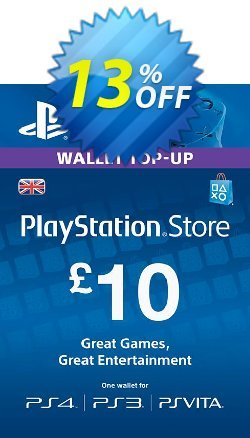 PlayStation Network Card - £10 - PS Vita/PS3/PS4  Coupon discount PlayStation Network Card - £10 (PS Vita/PS3/PS4) Deal - PlayStation Network Card - £10 (PS Vita/PS3/PS4) Exclusive offer for iVoicesoft
