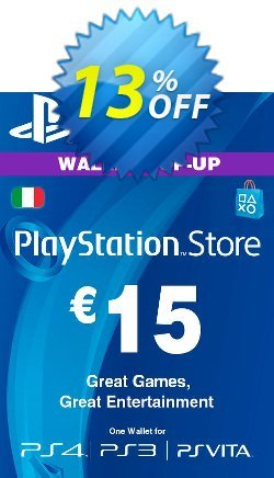 Playstation Network - PSN Card - 15 EUR - Italy  Coupon discount Playstation Network (PSN) Card - 15 EUR (Italy) Deal - Playstation Network (PSN) Card - 15 EUR (Italy) Exclusive offer for iVoicesoft