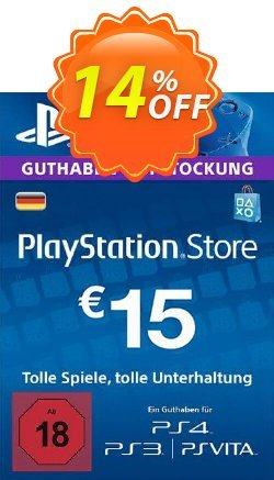 PlayStation Network - PSN Card - 15 EUR - Germany  Coupon discount PlayStation Network (PSN) Card - 15 EUR (Germany) Deal - PlayStation Network (PSN) Card - 15 EUR (Germany) Exclusive offer for iVoicesoft