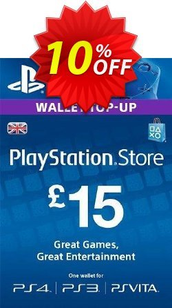PlayStation Network Card - £15 - PS Vita/PS3/PS4  Coupon discount PlayStation Network Card - £15 (PS Vita/PS3/PS4) Deal. Promotion: PlayStation Network Card - £15 (PS Vita/PS3/PS4) Exclusive offer for iVoicesoft