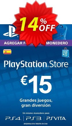 PlayStation Network - PSN Card - 15 EUR - Spain  Coupon discount PlayStation Network (PSN) Card - 15 EUR (Spain) Deal - PlayStation Network (PSN) Card - 15 EUR (Spain) Exclusive offer for iVoicesoft