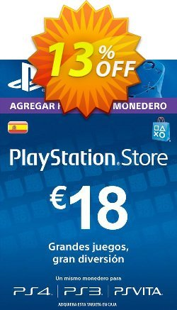 PlayStation Network - PSN Card - 18 EUR - Spain  Coupon discount PlayStation Network (PSN) Card - 18 EUR (Spain) Deal - PlayStation Network (PSN) Card - 18 EUR (Spain) Exclusive offer for iVoicesoft