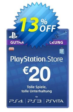 PlayStation Network - PSN Card - 20 EUR - Austria  Coupon discount PlayStation Network (PSN) Card - 20 EUR (Austria) Deal - PlayStation Network (PSN) Card - 20 EUR (Austria) Exclusive offer for iVoicesoft