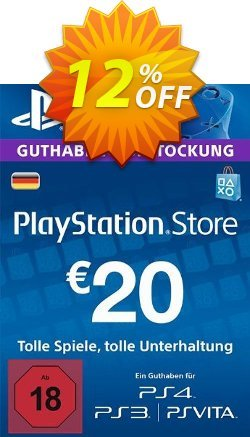 PlayStation Network - PSN Card - 20 EUR - Germany  Coupon discount PlayStation Network (PSN) Card - 20 EUR (Germany) Deal - PlayStation Network (PSN) Card - 20 EUR (Germany) Exclusive offer for iVoicesoft