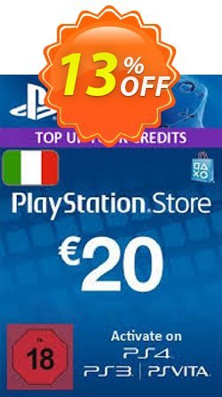 PlayStation Network - PSN Card - 20 EUR - Italy  Coupon discount PlayStation Network (PSN) Card - 20 EUR (Italy) Deal - PlayStation Network (PSN) Card - 20 EUR (Italy) Exclusive offer for iVoicesoft