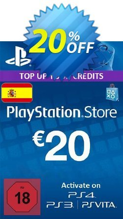 PlayStation Network - PSN Card - 20 EUR - Spain  Coupon discount PlayStation Network (PSN) Card - 20 EUR (Spain) Deal - PlayStation Network (PSN) Card - 20 EUR (Spain) Exclusive offer for iVoicesoft