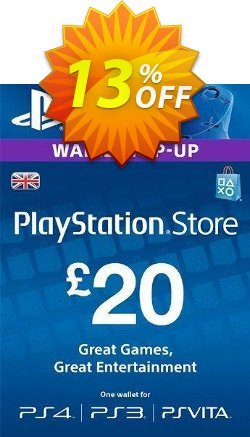Playstation Network Card - £20 - PS Vita/PS3/PS4  Coupon discount Playstation Network Card - £20 (PS Vita/PS3/PS4) Deal - Playstation Network Card - £20 (PS Vita/PS3/PS4) Exclusive offer for iVoicesoft