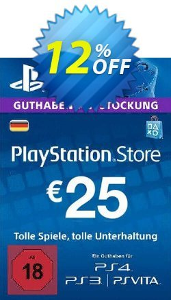 PlayStation Network - PSN Card - 25 EUR - Germany  Coupon discount PlayStation Network (PSN) Card - 25 EUR (Germany) Deal - PlayStation Network (PSN) Card - 25 EUR (Germany) Exclusive offer for iVoicesoft