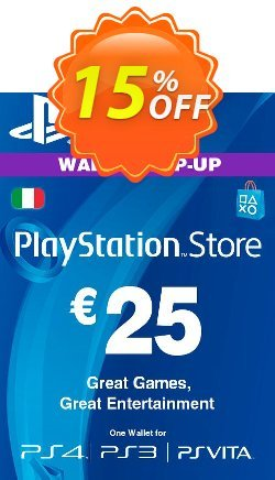 Playstation Network - PSN Card - 25 EUR - Italy  Coupon discount Playstation Network (PSN) Card - 25 EUR (Italy) Deal - Playstation Network (PSN) Card - 25 EUR (Italy) Exclusive offer for iVoicesoft