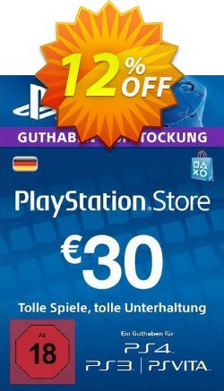 PlayStation Network - PSN Card - 30 EUR - Germany  Coupon discount PlayStation Network (PSN) Card - 30 EUR (Germany) Deal - PlayStation Network (PSN) Card - 30 EUR (Germany) Exclusive offer for iVoicesoft