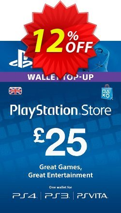 Playstation Network Card - £25 - PS Vita/PS3/PS4  Coupon discount Playstation Network Card - £25 (PS Vita/PS3/PS4) Deal - Playstation Network Card - £25 (PS Vita/PS3/PS4) Exclusive offer for iVoicesoft