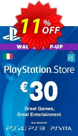Playstation Network - PSN Card - 30 EUR - Italy  Coupon discount Playstation Network (PSN) Card - 30 EUR (Italy) Deal - Playstation Network (PSN) Card - 30 EUR (Italy) Exclusive offer for iVoicesoft