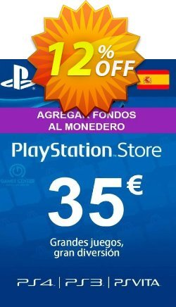 PlayStation Network - PSN Card - 35 EUR - Spain  Coupon discount PlayStation Network (PSN) Card - 35 EUR (Spain) Deal - PlayStation Network (PSN) Card - 35 EUR (Spain) Exclusive offer for iVoicesoft