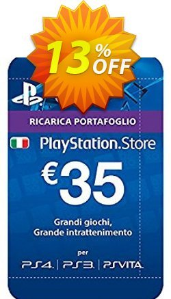 PlayStation Network - PSN Card - 35 EUR - Italy  Coupon discount PlayStation Network (PSN) Card - 35 EUR (Italy) Deal - PlayStation Network (PSN) Card - 35 EUR (Italy) Exclusive offer for iVoicesoft