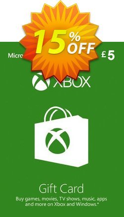 Microsoft Gift Card - £5 - Xbox One/360  Coupon discount Microsoft Gift Card - £5 (Xbox One/360) Deal - Microsoft Gift Card - £5 (Xbox One/360) Exclusive offer for iVoicesoft