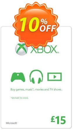 Microsoft Gift Card - £15 - Xbox One/360  Coupon discount Microsoft Gift Card - £15 (Xbox One/360) Deal - Microsoft Gift Card - £15 (Xbox One/360) Exclusive offer for iVoicesoft