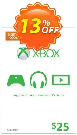 Microsoft Gift Card - $25 - Xbox One/360  Coupon discount Microsoft Gift Card - $25 (Xbox One/360) Deal - Microsoft Gift Card - $25 (Xbox One/360) Exclusive offer for iVoicesoft