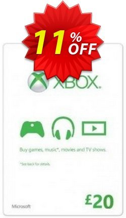 Microsoft Gift Card - £20 - Xbox One/360  Coupon discount Microsoft Gift Card - £20 (Xbox One/360) Deal. Promotion: Microsoft Gift Card - £20 (Xbox One/360) Exclusive offer for iVoicesoft