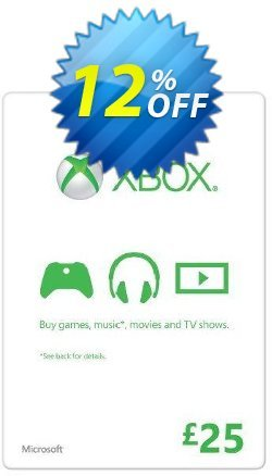 Microsoft Gift Card - £25 - Xbox One/360  Coupon discount Microsoft Gift Card - £25 (Xbox One/360) Deal - Microsoft Gift Card - £25 (Xbox One/360) Exclusive offer for iVoicesoft