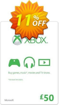 Microsoft Gift Card - £50 - Xbox One/360  Coupon discount Microsoft Gift Card - £50 (Xbox One/360) Deal - Microsoft Gift Card - £50 (Xbox One/360) Exclusive offer for iVoicesoft