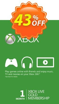 1 Month Xbox Live Gold Membership - Xbox One/360  Coupon discount 1 Month Xbox Live Gold Membership (Xbox One/360) Deal - 1 Month Xbox Live Gold Membership (Xbox One/360) Exclusive offer for iVoicesoft