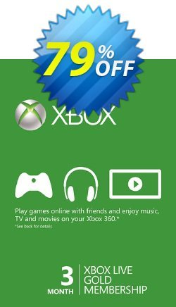 3 Month Xbox Live Gold Membership Card - Xbox One/360  Coupon discount 3 Month Xbox Live Gold Membership Card (Xbox One/360) Deal - 3 Month Xbox Live Gold Membership Card (Xbox One/360) Exclusive offer for iVoicesoft