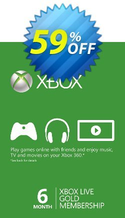 6 Month Xbox Live Gold Membership - Xbox One/360  Coupon discount 6 Month Xbox Live Gold Membership (Xbox One/360) Deal - 6 Month Xbox Live Gold Membership (Xbox One/360) Exclusive offer for iVoicesoft