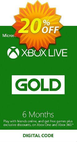 6 Month Xbox Live Gold Membership - EU  Coupon discount 6 Month Xbox Live Gold Membership (EU) Deal. Promotion: 6 Month Xbox Live Gold Membership (EU) Exclusive offer for iVoicesoft