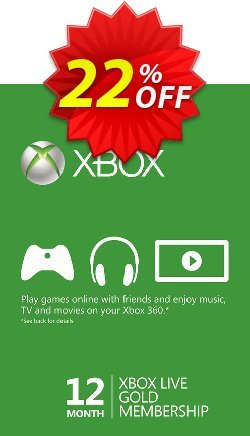 12 Month Xbox Live Gold Membership - - EU  Coupon discount 12 Month Xbox Live Gold Membership - (EU) Deal - 12 Month Xbox Live Gold Membership - (EU) Exclusive offer for iVoicesoft
