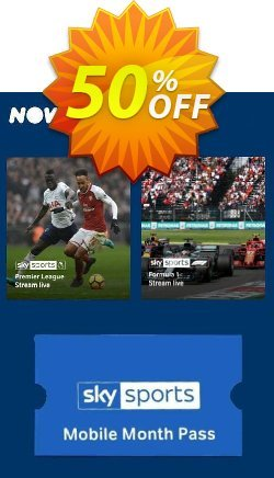 NOW TV - Sky Sports Mobile Month Pass Coupon discount NOW TV - Sky Sports Mobile Month Pass Deal - NOW TV - Sky Sports Mobile Month Pass Exclusive offer for iVoicesoft