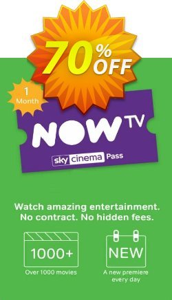 NOW TV - 1 Month Movie Pass Coupon discount NOW TV - 1 Month Movie Pass Deal - NOW TV - 1 Month Movie Pass Exclusive offer for iVoicesoft