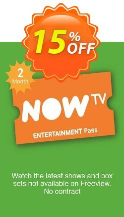 NOW TV - Entertainment 2 Month Pass Coupon discount NOW TV - Entertainment 2 Month Pass Deal - NOW TV - Entertainment 2 Month Pass Exclusive offer for iVoicesoft
