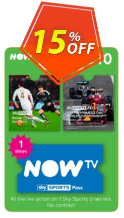 NOW TV - Sky Sports 1 Week Pass Coupon discount NOW TV - Sky Sports 1 Week Pass Deal. Promotion: NOW TV - Sky Sports 1 Week Pass Exclusive offer for iVoicesoft