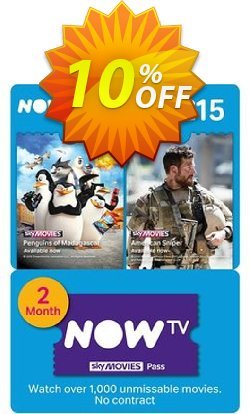 NOW TV - Movies 2 Month Pass Coupon discount NOW TV - Movies 2 Month Pass Deal - NOW TV - Movies 2 Month Pass Exclusive offer for iVoicesoft