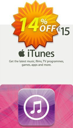 iTunes Gift Card - £15 Coupon discount iTunes Gift Card - £15 Deal - iTunes Gift Card - £15 Exclusive offer for iVoicesoft