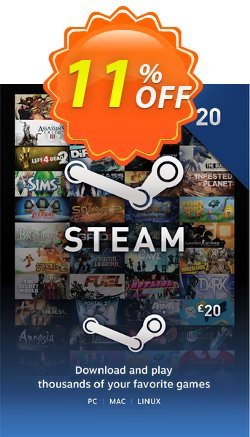 Steam Wallet Top-up £20 GBP Coupon discount Steam Wallet Top-up £20 GBP Deal - Steam Wallet Top-up £20 GBP Exclusive offer for iVoicesoft